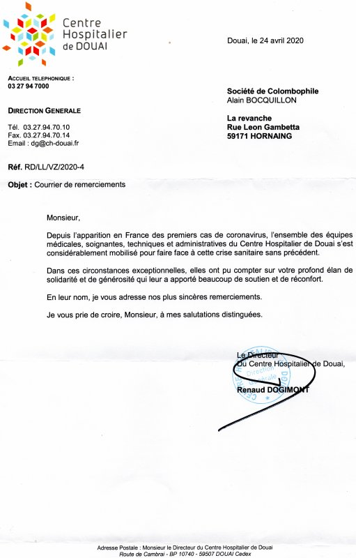 LA GAZETTE INFO LA REVANCHE CH DE DOUAI 13 MAI 2020