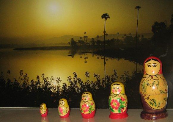 """Boites décoratives dites """"poupées Russes"""""""