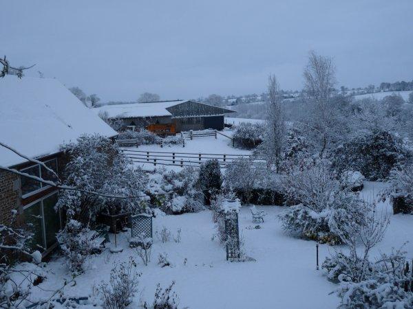 neige dans la manche