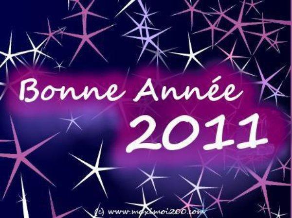 JE SOUHAITE UNE TRES BONNE ANNEE 2011 A TOUT LE MONDE, ET QU'ELLE SOIT PLEINE DE BONHEUR ET D'EMOTIONS POUR VOUS !!!!!!!!!!!!