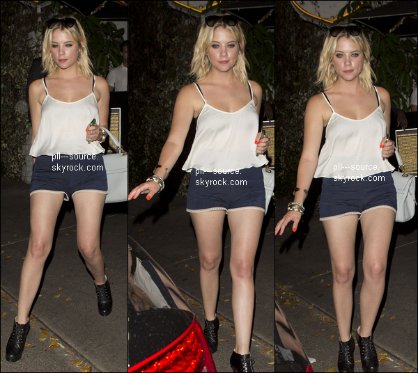 Ashley Benson quittant Boosty bellows