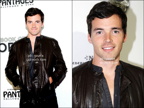 Ian harding At The Book Of Mormon' Los Angeles Opening Night