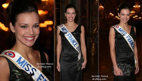 SORTIE -- Marine Lorphelin et Sylvie Tellier étaient à une soirée organisée par l'association A.V.E.C au Château de Versailles, pour lutter contre le cancer le 6 février.