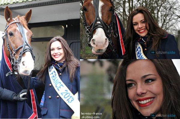 SORTIE -- Marine Lorphelin était à l'Hippodrome de Vincennes, à l'occasion du Grand Prix de France.
