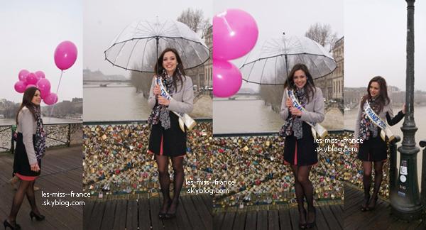 Election -- Marine Lorphelin était à l'élection de Miss Alès à Montpellier, le 16 février.