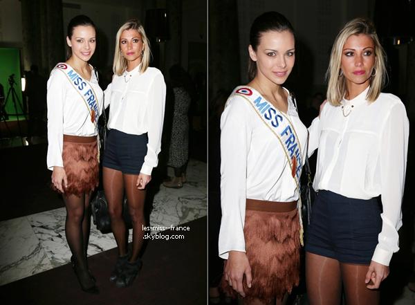 SORTIE -- Le 13 février Marine était avec Alexandra et Sylvie, pour la soirée Magnum.
