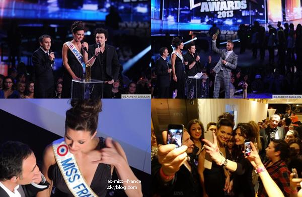 SORTIE -- Marine Lorphelin était NRJ Music Awards 2013, à Cannes le 26 janvier.