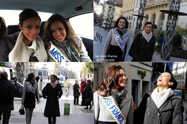 RENCONTRE -- Marine Lorphelin a fait la rencontre de Sonia Rolland (ex Miss France, et Miss Bourgogne), le 19 mars.