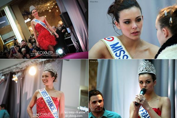 """Télévision -- Marine Lorphelin est dans l'émission """"Qui veut gagner des millions"""" avec Cauet, spéciale Sidaction, le 5 avril 2013."""