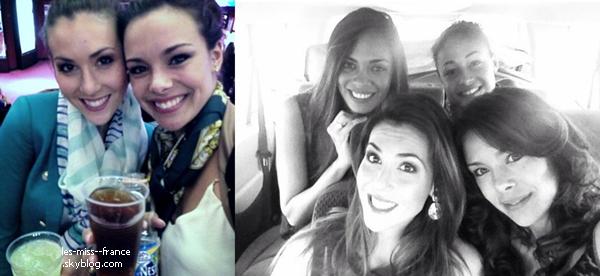 PROMOTION -- Marine et Sylvie Tellier font la promotion du voyage de préparation Miss France 2014.