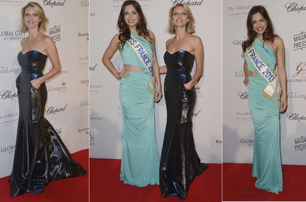 EVENTS -- Marine Lorphelin et Sylvie Tellier étaient au Global Gift Gala, le 13 mai 2013.