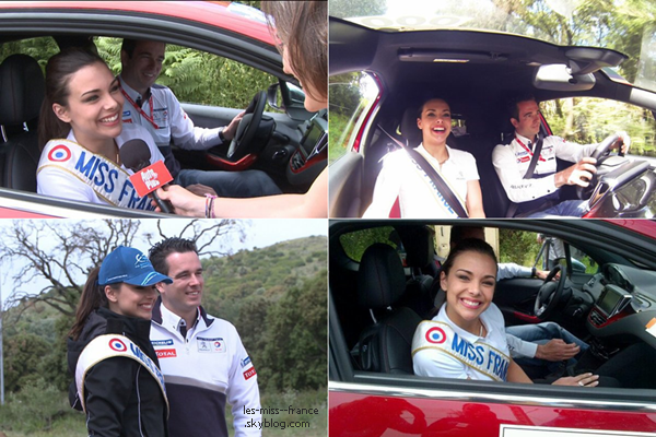 SORTIE -- Le 18 mai, Marine était l'invitée du 56e Tour de Corse. A cette occasion la belle s'est vu offrir un baptême en Peugeot 208 GTi.