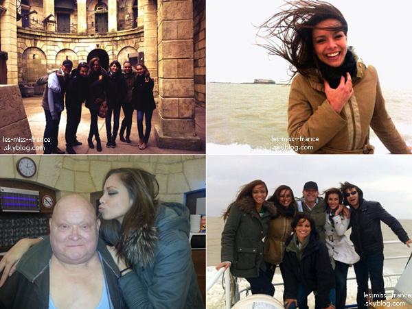 """TOURNAGE -- Marine ainsi que d'autres miss sont en tournage pour l'émission """"Fort Boyard""""."""