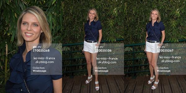 SORTIE -- Marine et Sylvie Tellier étaient à Roland Garros, le 6 juin 2013.