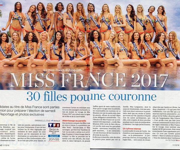 Nos prétendantes à Miss France 2017 sont dans la presse