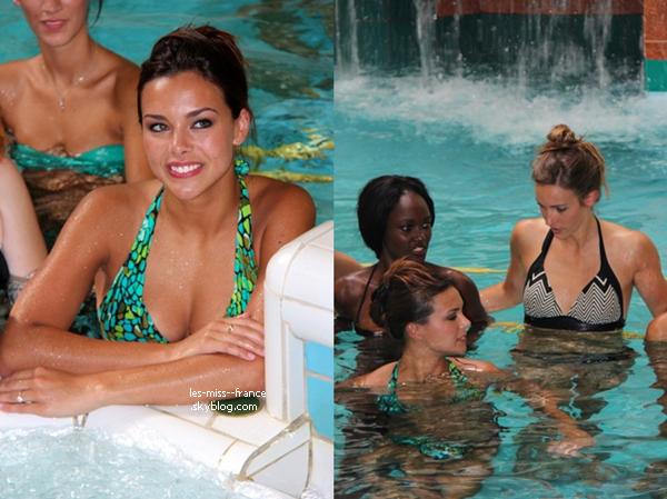 SORTIE -- Marine Lorphelin est à la foire expo de La Rochelle, le 31 août 2013. Dernière sortie, avant le départ de Miss Monde le 2 septembre !