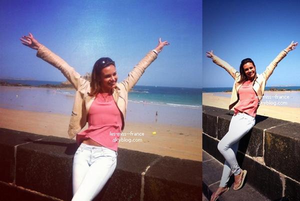 SORTIE -- Marine Lorphelin était au Tour de France à Saint-Malo, en Bretagne.