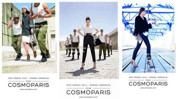 SHOOTING -- Voici la nouvelle campagne publicitaire de Cosmoparis, dont Marine est devenue l'égérie.