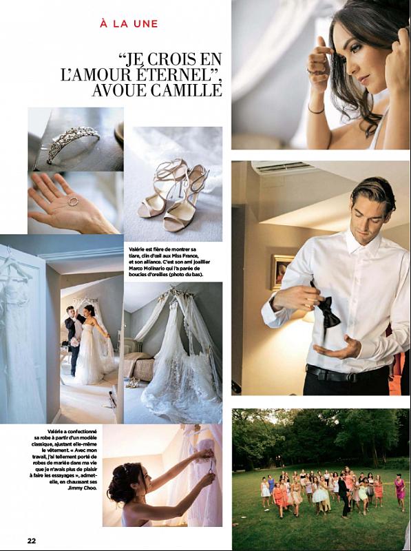 Valérie Bègue et Camille Lacourt se sont mariés le 8 août 2013, source Gala