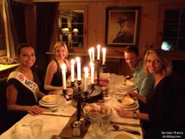 VOYAGE -- Marine Lorphelin est à Megève, depuis le 1 février. Il y a également Sylvie, Rachel, Alexandra et  Charlène (Miss Franche-Comté).