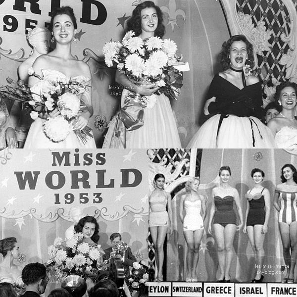 Denise Perrier notre Miss Monde 1953