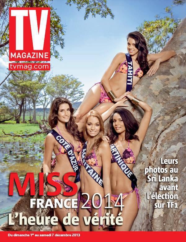 Les candidates à Miss France 2014 dans TV magazine