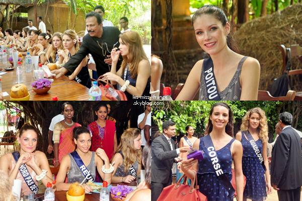 D'autres photos des candidates à Miss France 2014 au Sri Lanka.