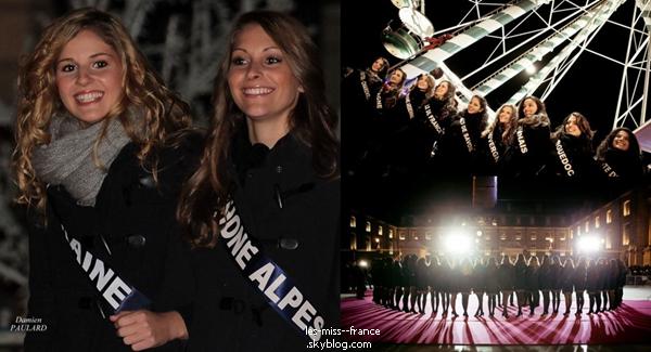 Les candidates accompagnée de Marine Lorphelin étaient aux illuminations de noël à Dijon