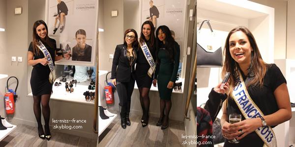 INAUGURARTION -- Marine Lorphelin était à l'inauguration de la boutique Cosmoparis, le 4 décembre.