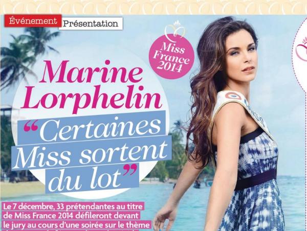 Un interview de Marine Lorphelin dans TV Mag