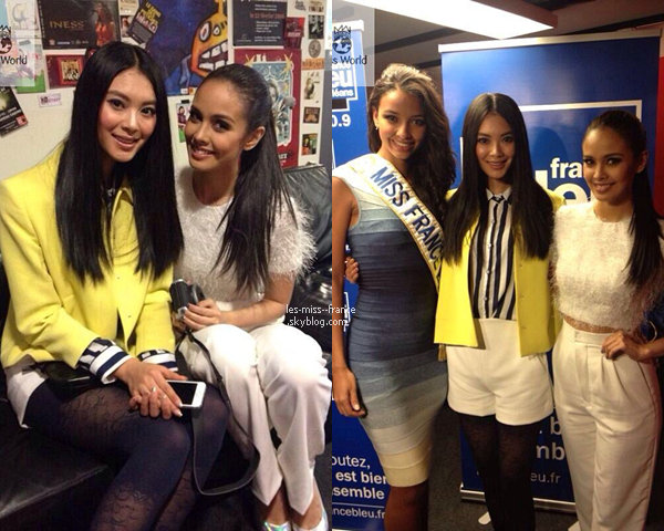 VOYAGE -- Megan Young l'actuelle Miss Monde et Yu Wenxia sont en France.