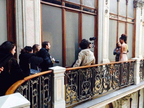 Flora Coquerel était à Hippodrome de Vincennes, accompagnée de Sylvie Tellier