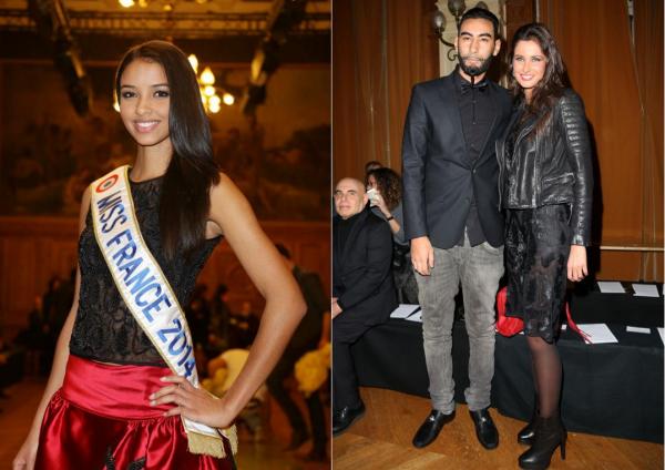 17 Janv. 2014 | Flora Coquerel était au défilé d'Eric Tibusch et Oscar Carvallo, pendant la Fashion Week de Paris aux côtés de Malika Ménard