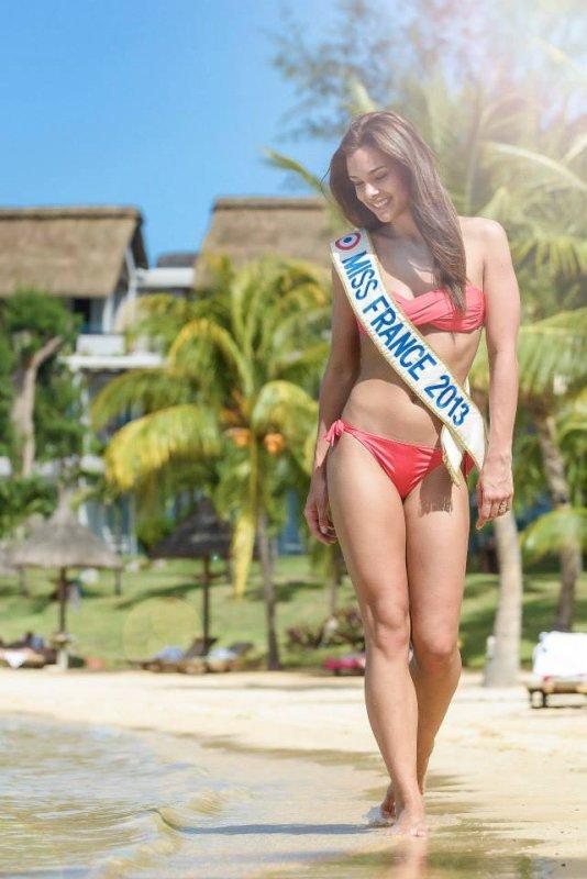 Marine Lorphelin est en vacances à l'Ile Maurice
