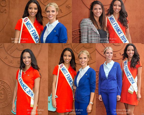 03 Juin 2014 | Flora était à Roland Garros avec Sylvie Tellier et Chloé Mortaud.