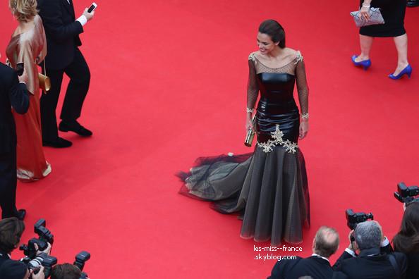 EVENTS -- Marine Lorphelin était au Festival de Cannes 2014, accompagnée du chanteur Bastian Baker, le 14 mai 2014.