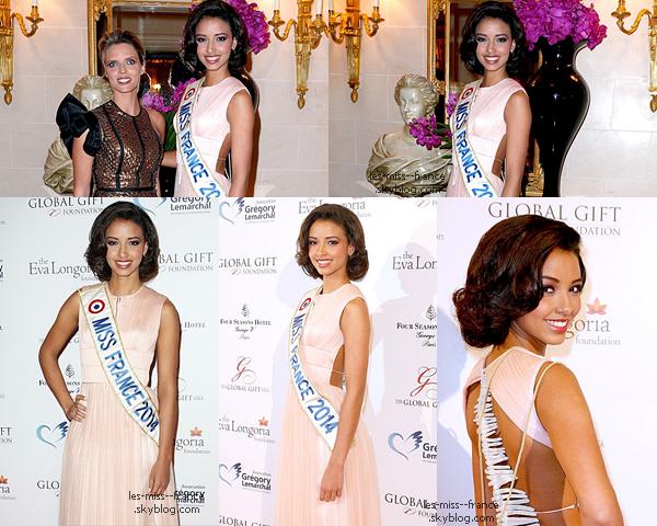 EVENTS -- Flora Coquerel et Sylvie Tellier étaient au Global Gift Gala, le 12 mai 2014.