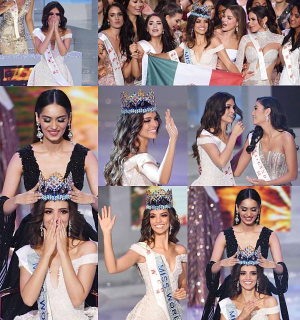 Miss Monde 2018 est Miss Mexique !