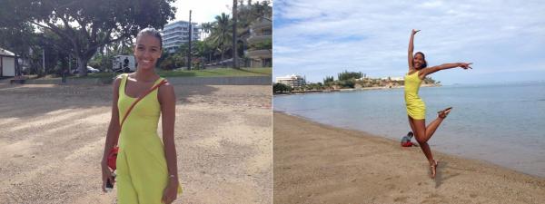 20 Août 2014 | Flora a retrouvée Agnès Latchimy (Miss Nouvelle Calédonie 2013) et Manon Beurey (Miss Picardie 2013).
