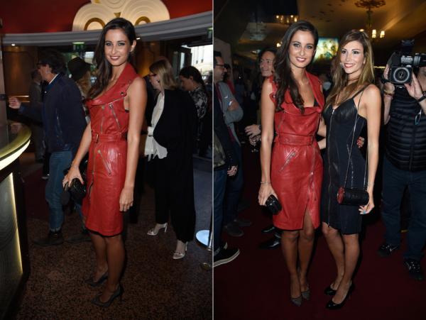 27 Sept. 2014 | Malika Ménard ainsi qu'Alexandra Rosenfeld étaient au défilé de Jean Paul Gaultier, pour la Fashion Week, à Paris.