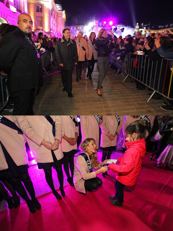 01 Décembre 2014 | Nos candidates à Miss France étaient à la visite de la laiterie de St Denis de L'hotel ; puis visite de la Ferme de Fay aux loges.