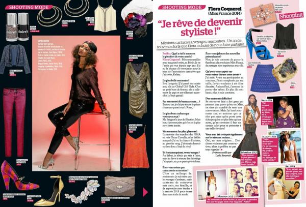 05 Déc. 2014 | Cette semaine Flora Coquerel est dans le magazine Public.