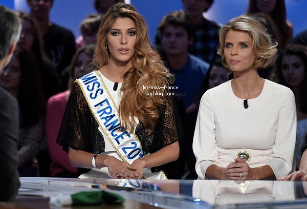 08 Déc. 2014 | Camille Cerf et Sylvie Tellier étaient sur le plateau du Grand Journal. Elle était également de passage au secours populaire.