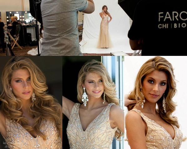 Découvrez les photos officielles du shooting en robe de soirée pour Miss Univers