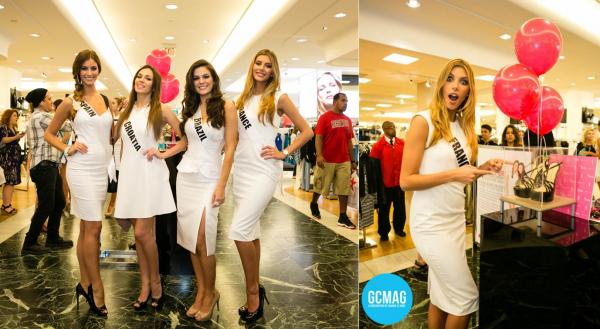 10 Janv. 2015 | Jours 4 - Camille Cerf et les autres candidates se rendent au centre commercial Macy's pour faire la visite du partenaire chaussures Chinese Laundry.