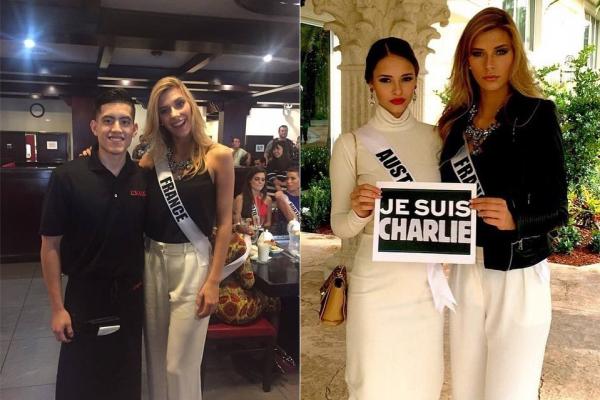 11 Janv. 2015 | Jour 5 - Un nouveaux message de soutiens #JeSuisCharlie. Camille et les autres candidates étaient dans un restaurant Italien.