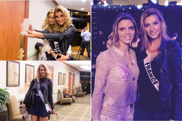 25 Janv. 2015 | Jour-J pour la belle Camille. Des anciennes Miss se sont réunis pour soutenir Camille lors de l'élection, dont Flora, Delphine, Laury et Malika.