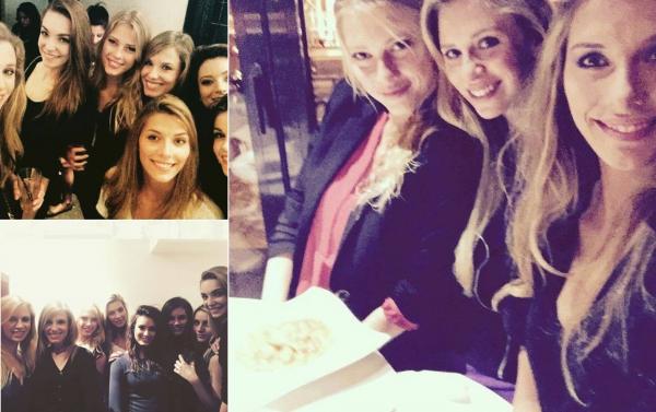 28 Févr. 2015 | Camille était en séance dédicaces à Coquelles. Dans la soirée, elle a retrouvée des amies.