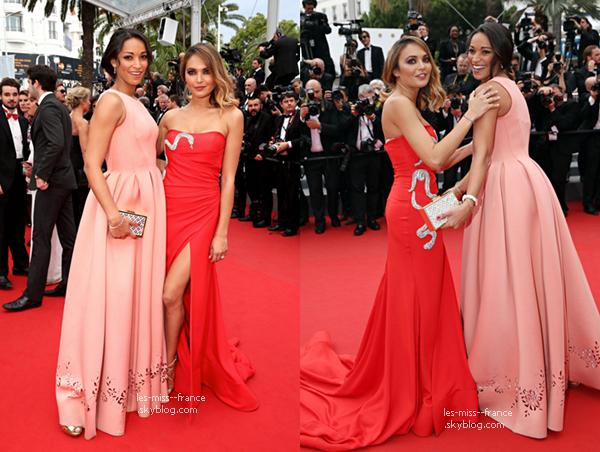 EVENTS -- Valérie Bègue et Cindy Fabre était à la montée des marches du Festival de Cannes, ce 23 mai 2015.