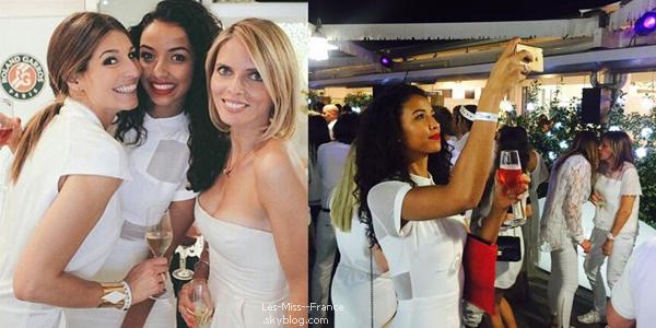 04 Juin 2015 | Flora, Laury et Sylvie ont participé à la soirée blanche de Roland Garros.